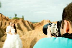 If there's a particular photographer that you think would be perfect, arrange a pre-wedding photo shoot.