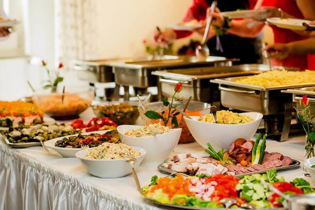 When you select a catering service provider